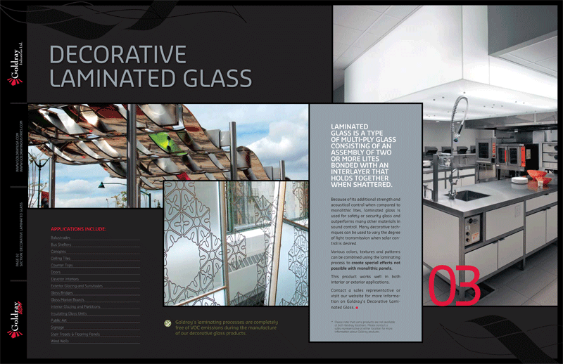 Architecture Design Sheets red label communications | creative that sticks | goldray brochure